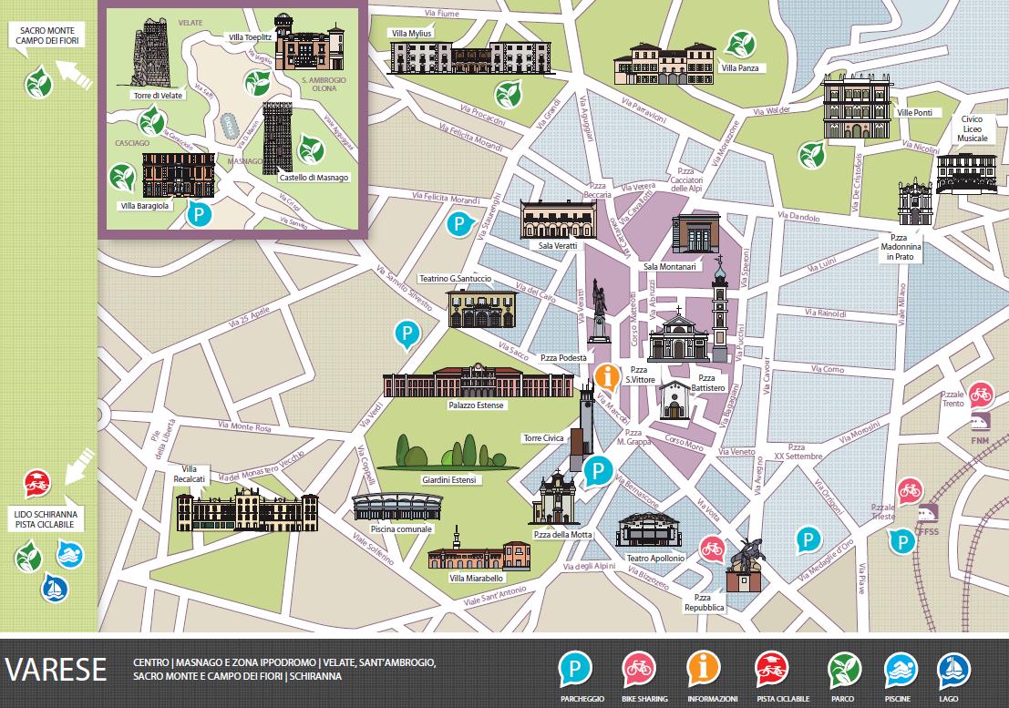 Ufficio Del Verde Varese : Varese città giardino tempo libero e itinerari